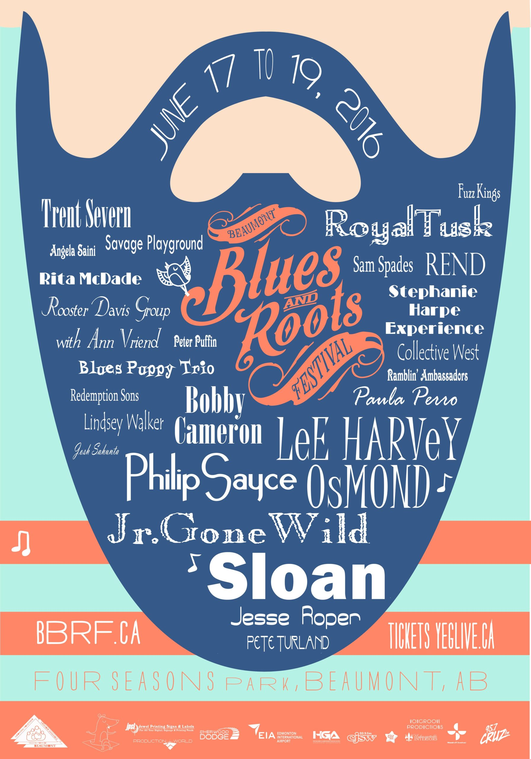 The Beaumont Blues & Roots Festival poster 2016 beard