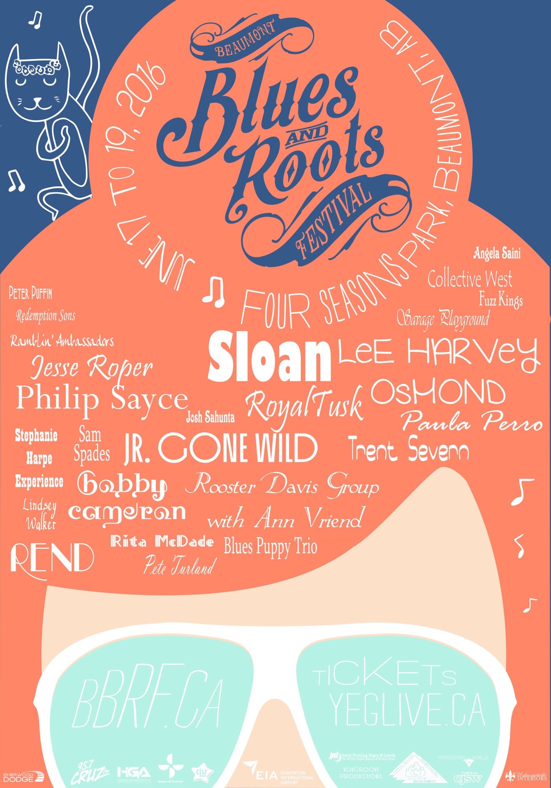 The Beaumont Blues & Roots Festival poster 2016 glasses