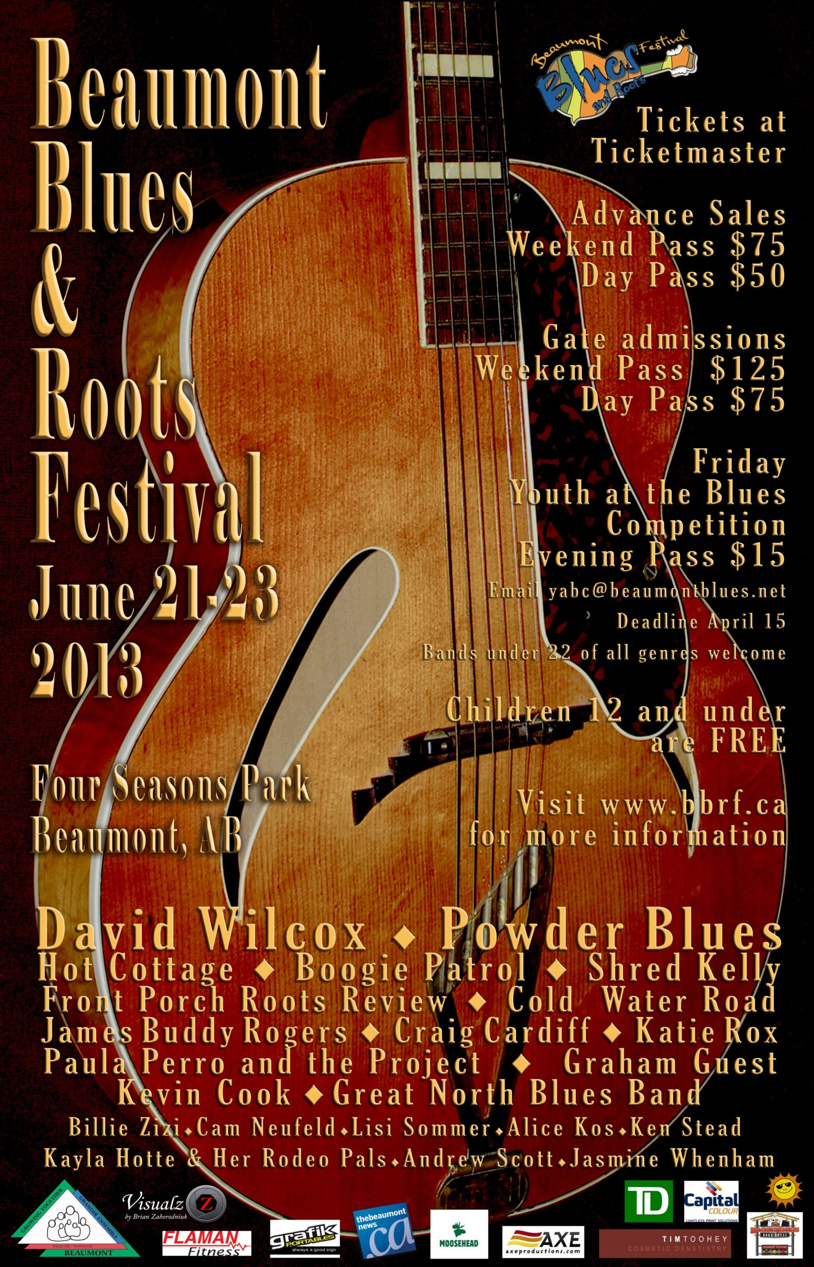 The Beaumont Blues & Roots Festival poster 2013