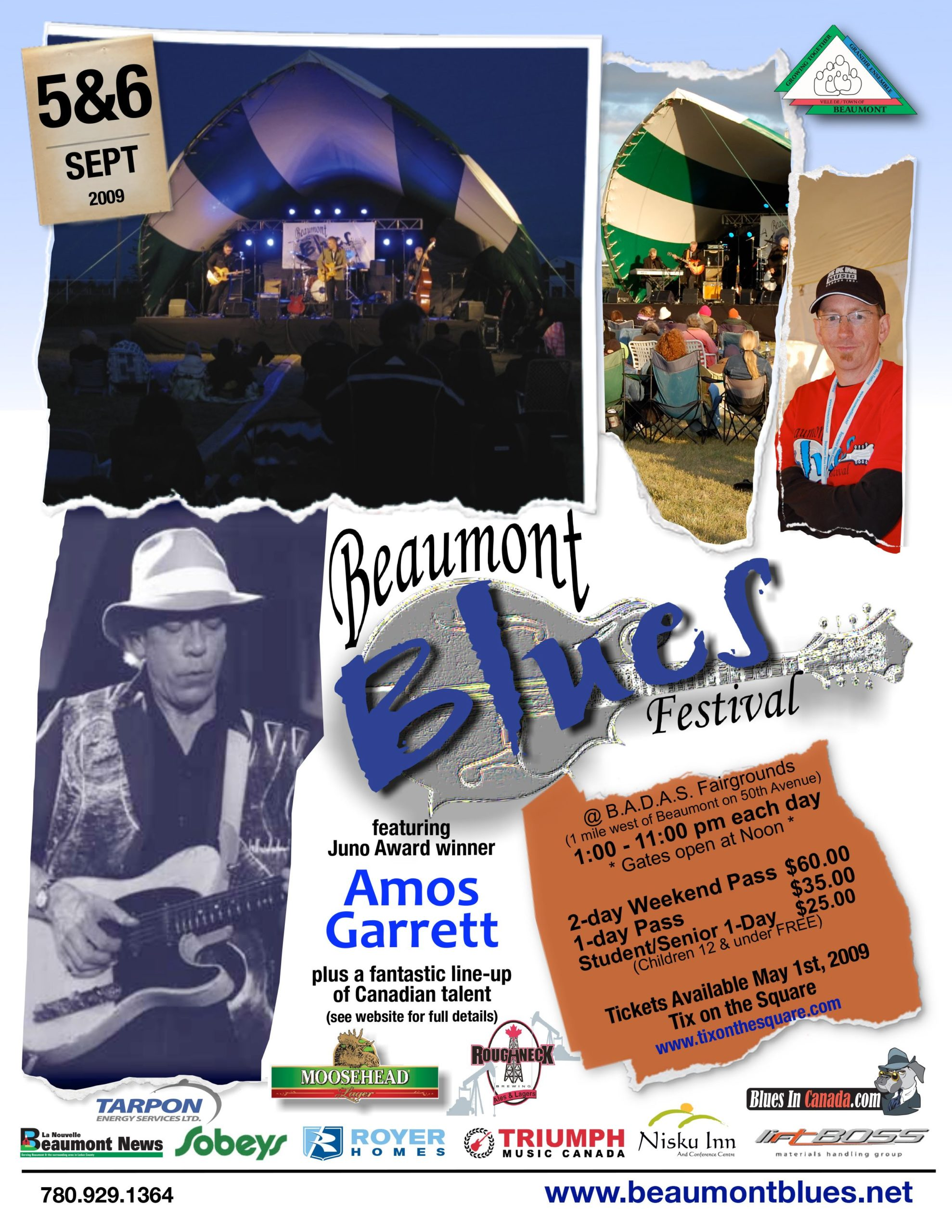The Beaumont Blues poster 2009